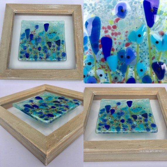 Fused Glass Fused Glass Art Glass Art Coastal Art Flower