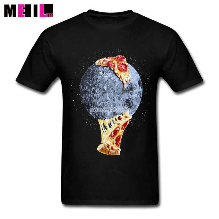 Man's When The Moon Hits Your Eye 3XL Design T Shirt Online Space Pizza T-shirts T Shirts #Affiliate