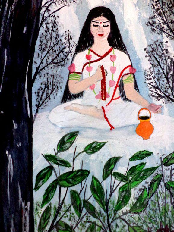 Navratri Puja Day 2 - Maa Brahmacharini  http://blog.onlineprasad.com/navratri-puja-mantra-day-2-maa-brahmacharini/
