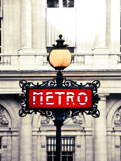 PARIS METRO. #red #art #deco @Amanda Kezios