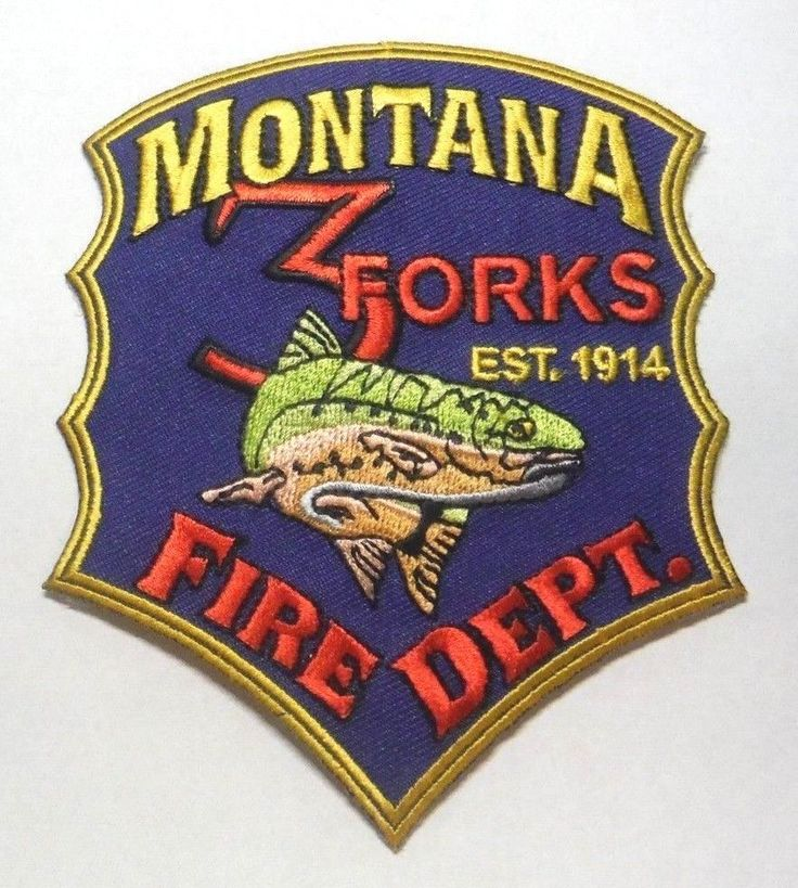 THREE FORKS MONTANA FIRE DEPT PATCH UNUSED