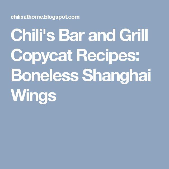 Chili's Bar and Grill Copycat Recipes: Boneless Shanghai Wings