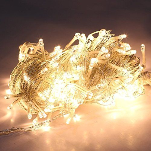 LEMONBEST Warm white 200 Led Light String Christmas Party Stage Wedding Fairy Lighting Show Rope lights 65.6ft 3000K