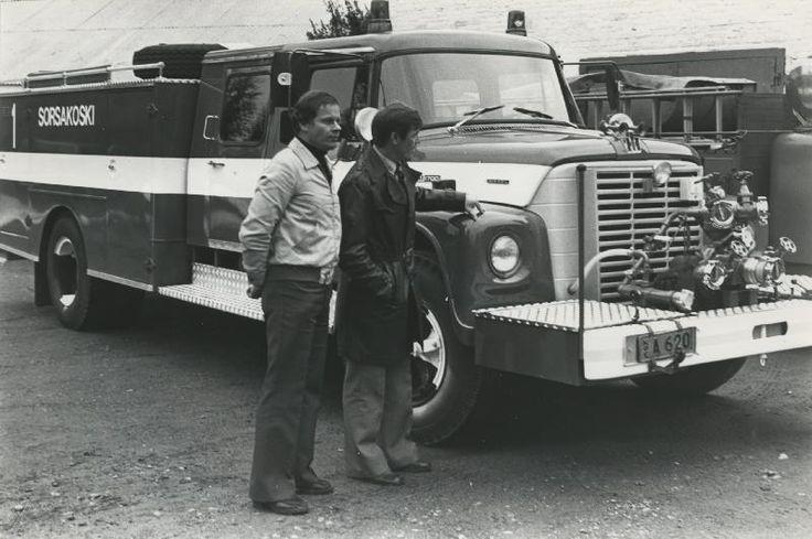 Sorsakosken tehdaspalokunta, Hackmanin arkisto, 1980-1990-luku #paloautot #firetruck
