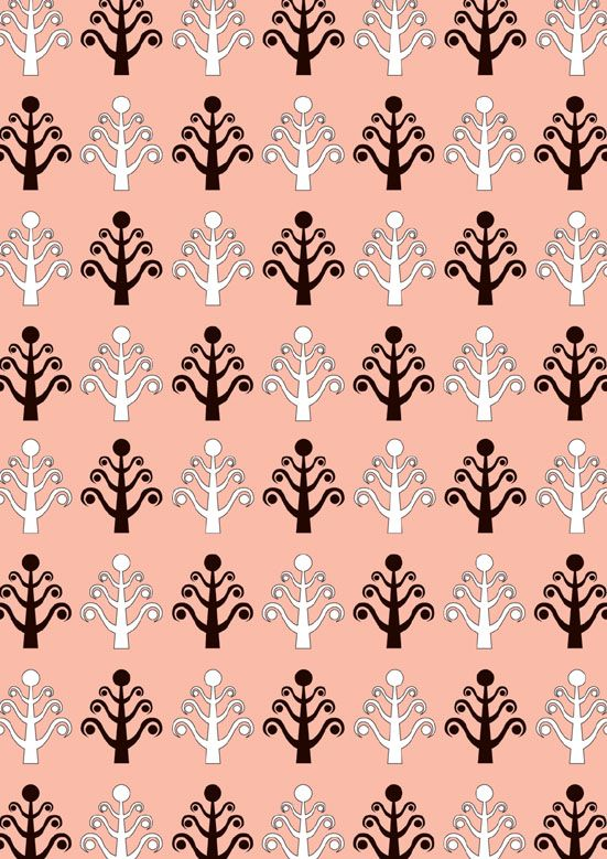Festive Pink Christmas Tree Pattern - FREE. Download psd file at http://selz.co/1wDc8Yg