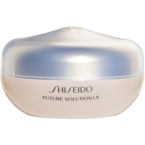 Shiseido Future Solution LX Total Radiance Loose Powder ($65) ❤ liked on Polyvore featuring beauty products, makeup, face makeup, face powder, shiseido, loose face powder and shiseido face powder