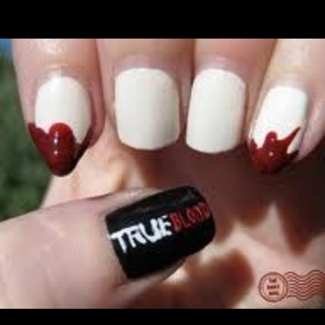 TrueBlood Nails... AWESOME.
