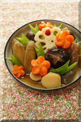 Japanese braised chicken and vegetables 七宝煮(筑前煮 Chikuzen-ni)