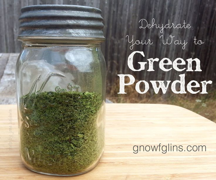 Dehydrate Your Way to Green Powder | Sometimes, the growing mound of greens going unused in the crisper drawer of my fridge can get overwhelming. I know I can freeze them for smoothies down the road, but I have an even better way of preserving the them -- I turn them into nutritious green powder which I can then add to countless dishes (even on the sly). | GNOWFGLINS
