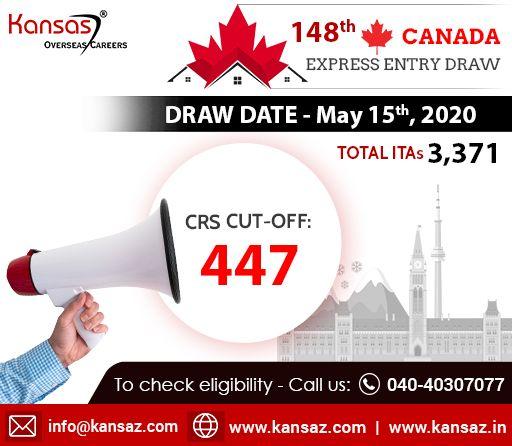 148th Canada Express Entry Draw Canada Pr Visa In 2020 Expressions Canada Draw