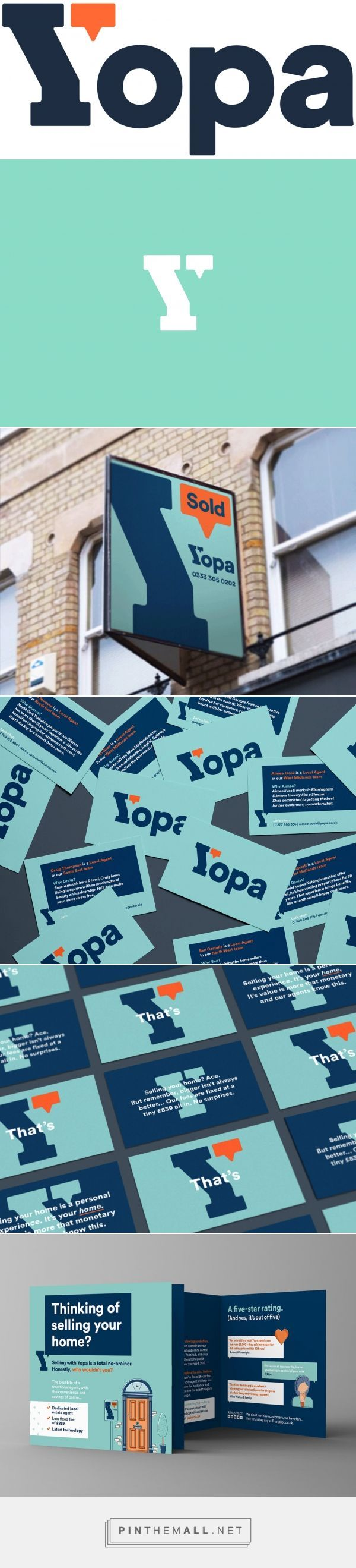 Brand New: New Logo and Identity for Yopa by SomeOne - created via https://pinthemall.net
