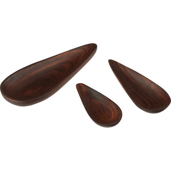 Farmhouse Small Wood Teardrop Spoon in Specialty Serveware | Crate and Barrel