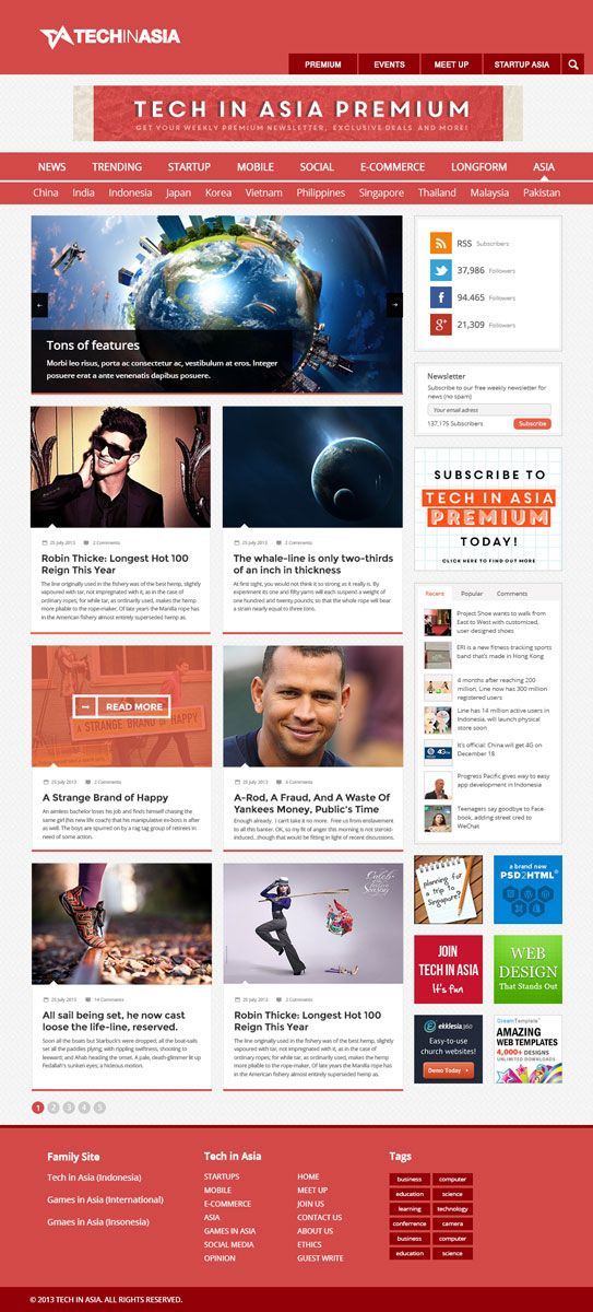 Blog HomePage Design