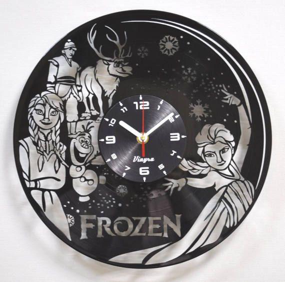 Frozen Clock Wall Vinyl Disney Frozen Elsa Toddler Clock Frozen