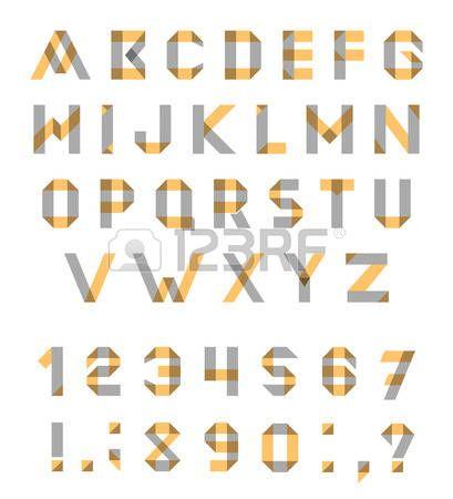 Conjunto del alfabeto de la fuente geométrica diversión. fuente con trazos superpuestos y colores mezclados. Modo de fusión Multiplicar.