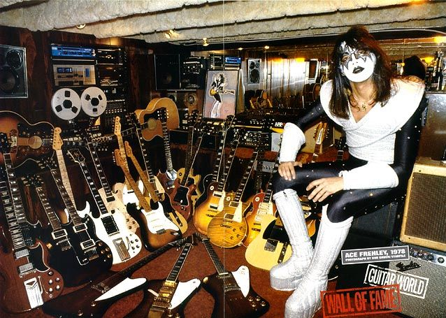 The design of each of Ace Frehley's guitars is inspired by a different venereal disease