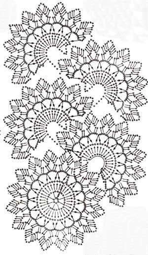 вязаное кружево схема