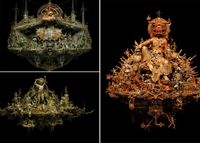 Металлические скульптуры Kris Kuksi