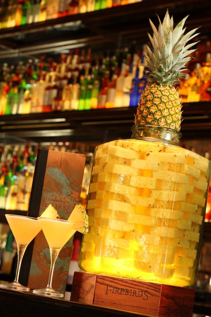 Firebird's Double Black Diamond martini. Fresh Pineapple ...
