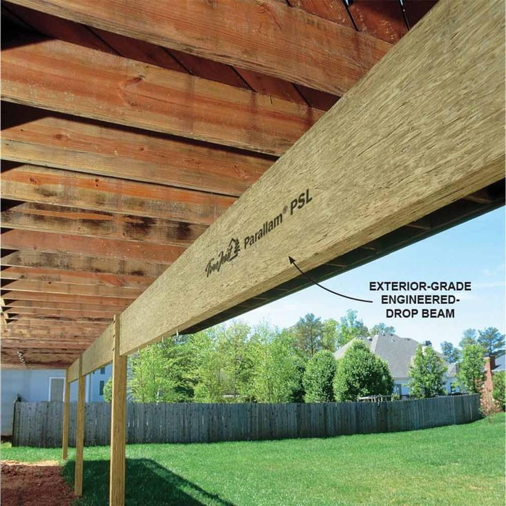 Engineered Lumber for Outdoor Use - 16 Modern Deck Building Tips and Shortcuts: http://www.familyhandyman.com/decks/modern-deck-building-tips-and-shortcuts#7