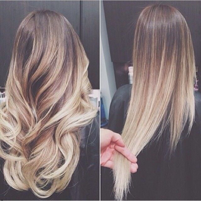 Love this long ombre hair... PERFECT. Im working on mine again... going up higher this summer