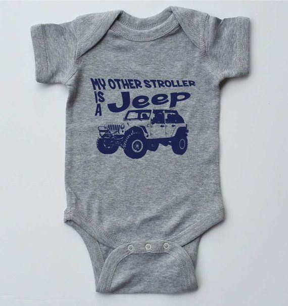 Baby Onesie-My Other Stroller is a Jeep-off road gifts for baby-gender neutral