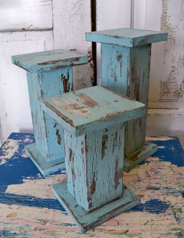 Rustic candle sticks made from a 4x4