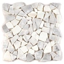 Marble White Fragment Mosaic