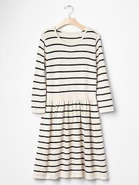 discount sale calculator Metallic stripe sweater dress