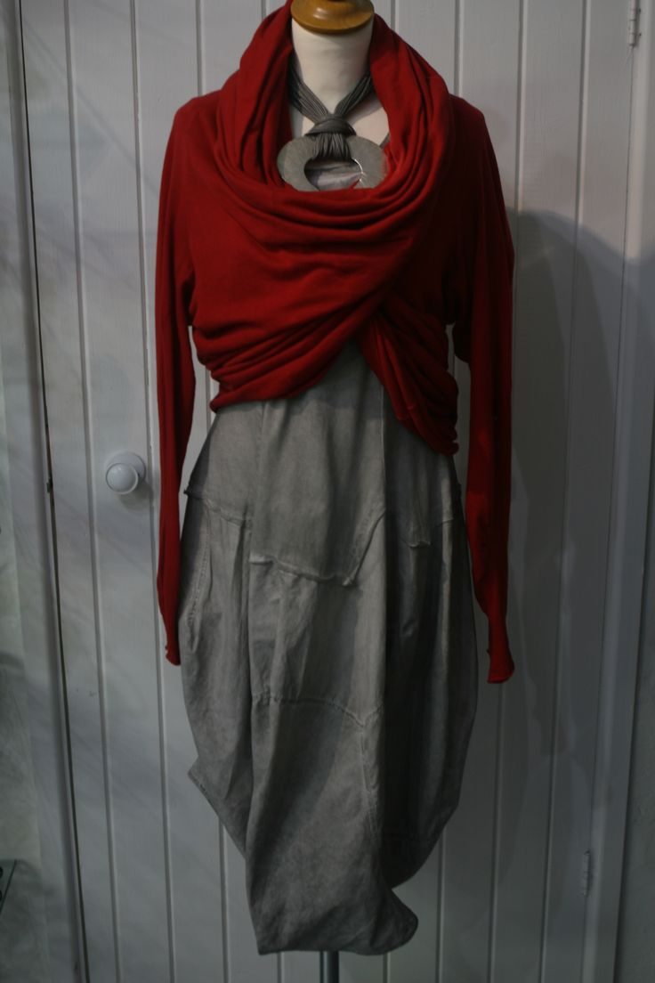 We love this cardigan, can be worn many different ways as shown in next photo  Worn with grey Rundholz dress Rh5023 http://www.walkersofpottergate.com/product/6022/rundholz-knit/?selected_category_id=381