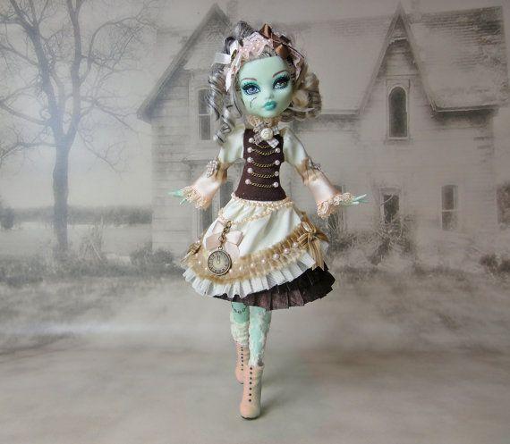 Brown alice lolita gothic steampunk outfit dress by JonnaJonzon