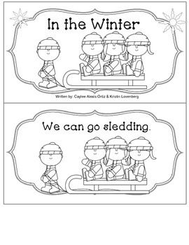 Cute emergent reader with interactive writing response. Practices sight words: we, can, a, make, and go. Goes well with any winter theme.