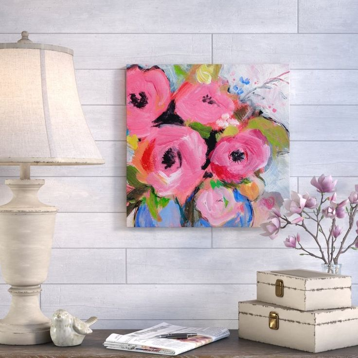 Bouquet in Pink Canvas Print