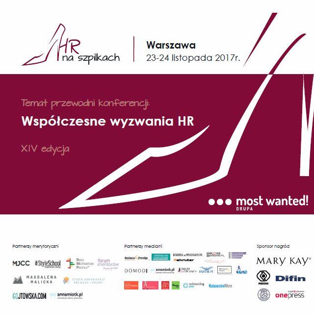 Spotkanie Kobiet HR w Warszawie!  Jeżeli zajmujesz się branżą HR i pasjonuje Cię tematyka zarządzania zasobami ludzkimi, dołącz do nas na Kongresie 'HR na szpilkach', który odbędzie się już 23 listopada 2017 r. w Warszawie.