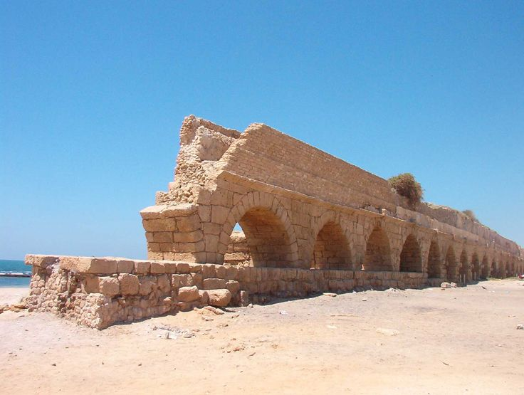 Ancient Caesarea Aqueduct in Israel, Herodian period, Bible History