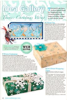 My box, as seen in Craft Stamper magazine, using my snowlfake and tag stamps for Blade RubberStamps