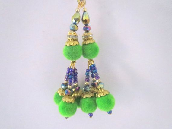 Pastel GreenBlue and Gold Handcrafted Velvet by CraftyJaipur