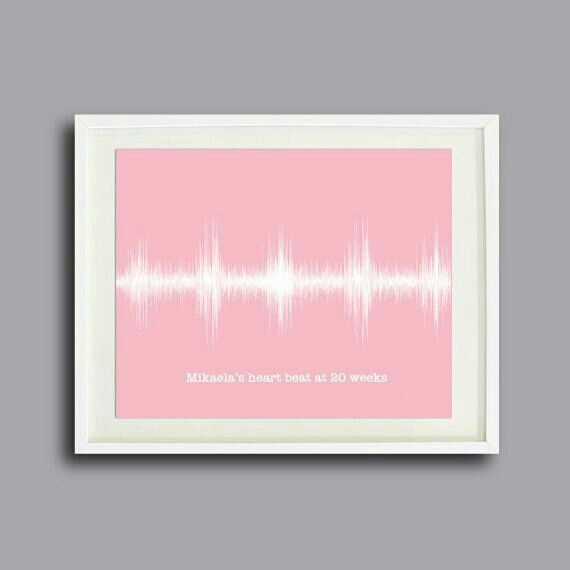 We love this framed heart beat! What a great piece of artwork for a nursery.