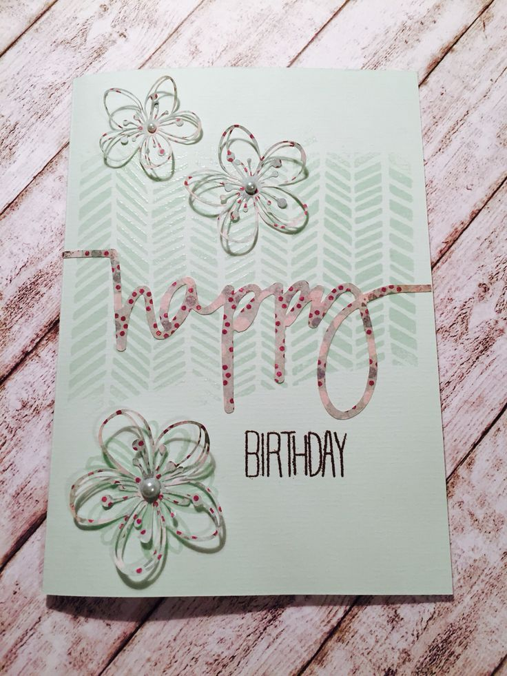Happy Birthday Card embossed and cut out