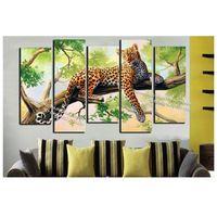DIY diamant schilderen kruissteek boom een luipaard Volledige vierkante borduren Mozaïek 3d rhinestone landschap woondecoratie tekening