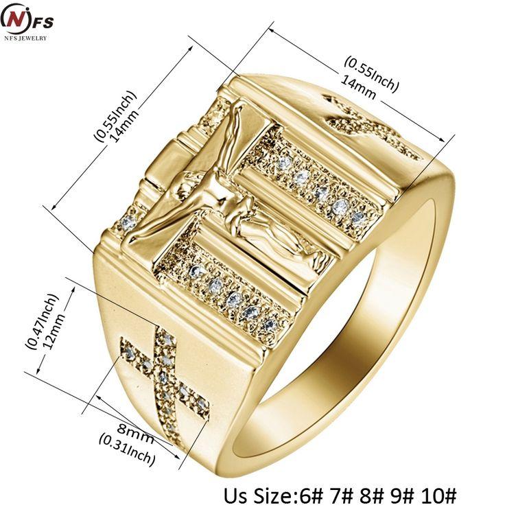 Старинный Золотой Святой Крест Перстень Молитва Христианская Иисус Золотые Кольца Белый Куб Циркония Палец Обручальное Кольцо