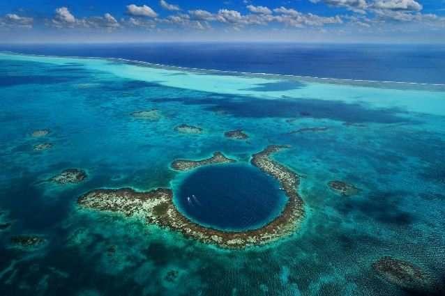 Большая голубая дыра, Белиз Глубина – 125 метров