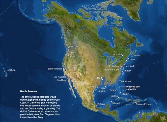 sea level rise map... for future science fiction and post apocalyptic stories. I actually thought it would be more severe.