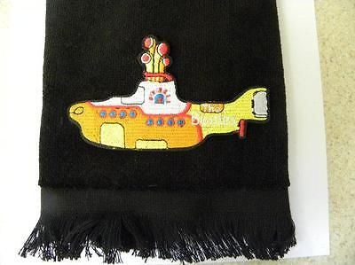 Beatles yellow submarine bath hand towel FREE SHIPPING gift black sub applique in Home & Garden, Bath, Towels & Washcloths | eBay