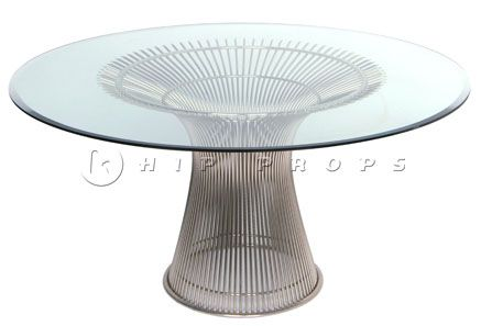 Platner dining table designed by Warren Platner 1966. Available to hire from  http://www.hipprops.com/Platner,_Warren/Platner_dining_table