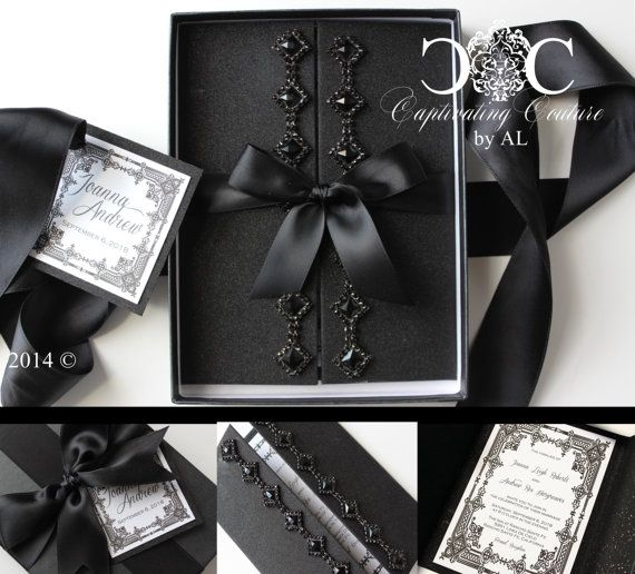 Beautiful Wedding Invites From Alexandria Lindou0027s Captivating Couture  Collection