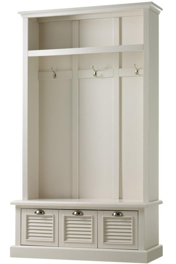 Foyer Furniture With Storage : Shutter locker storage hall trees entryway furniture