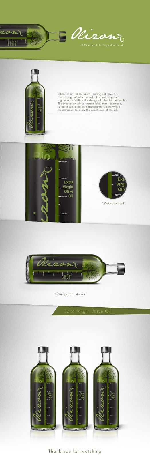 Olizon Olive Oil (Concept) on Packaging of the World - Creative Package Design Gallery