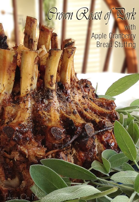 Crown Pork Roast with Apple Cranberry Stuffing   Recipe ...