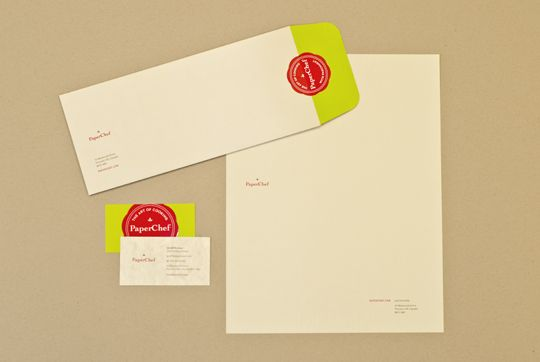 Paper Chef Identity- PAPERWORKS Contest Gold Winner printed on CLASSIC CREST® Papers Designers: Mark Buchner and Michelle Bovey of Compass360: Classic Crest 174, Papers Designers, Winner Printed, Paperworks Contest, Gold Winner, Chef Identity, Paper Chef